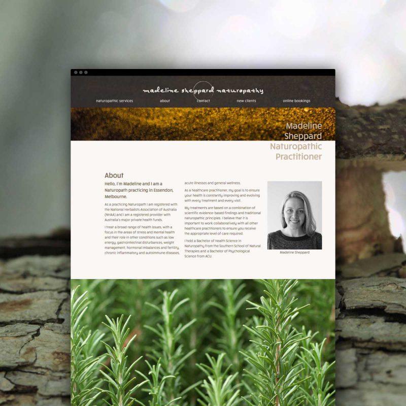 Madeline Sheppard Naturopath Website
