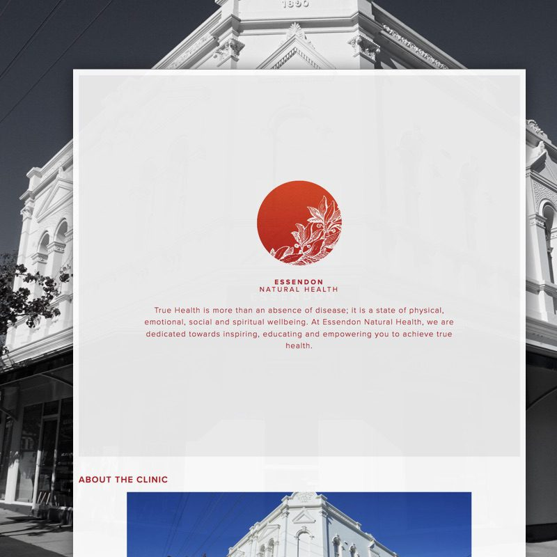 Essendon Natural Health Clinic Website Development